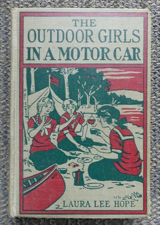 Image for THE OUTDOOR GIRLS IN A MOTOR CAR, OR THE HAUNTED MANSION OF SHADOW VALLEY.