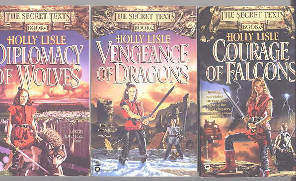 Image for THE SECRET TEXTS.  3 VOLUME SET.  BOOK 1. DIPLOMACY OF WOLVES.  BOOK 2. VENGEANCE OF DRAGONS.  BOOK 3. COURAGE OF FALCONS.