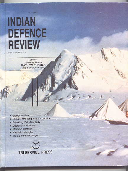 Image for INDIAN DEFENCE REVIEW.  JULY 1989.