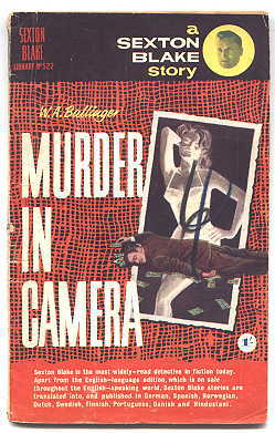 Image for MURDER IN CAMERA.  SEXTON BLAKE LIBRARY NO. 522.  4TH SERIES.