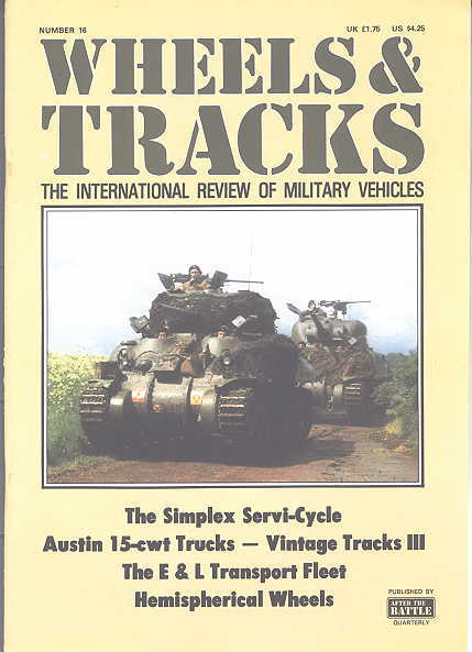 Image for WHEELS & TRACKS:  THE INTERNATIONAL REVIEW OF MILITARY VEHICLES.  NUMBER 16.