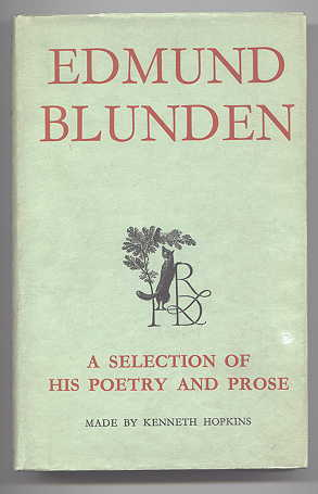 Image for EDMUND BLUNDEN:  A SELECTION OF HIS POETRY AND PROSE.
