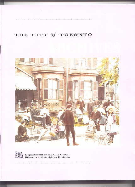 Image for THE CITY OF TORONTO ARCHIVES.