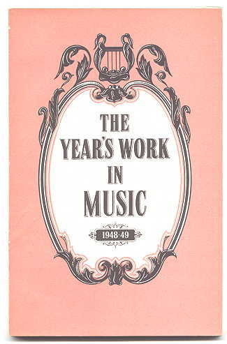 Image for THE YEAR'S WORK IN MUSIC.  1948-49.