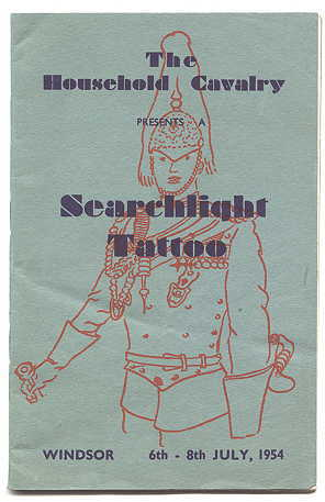 Image for THE HOUSEHOLD CAVALRY PRESENTS A SEARCHLIGHT TATTOO.  HOME PARK, WINDSOR, 6th, 7th, 8th, JULY, 1954.