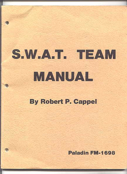 Image for S.W.A.T. TEAM MANUAL.  PALADIN FM-1698.  (SWAT)