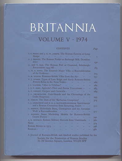 Image for BRITANNIA:  A JOURNAL OF ROMANO-BRITISH AND KINDRED STUDIES.  VOLUME 5 1974.  (VOLUME V - 1974.)