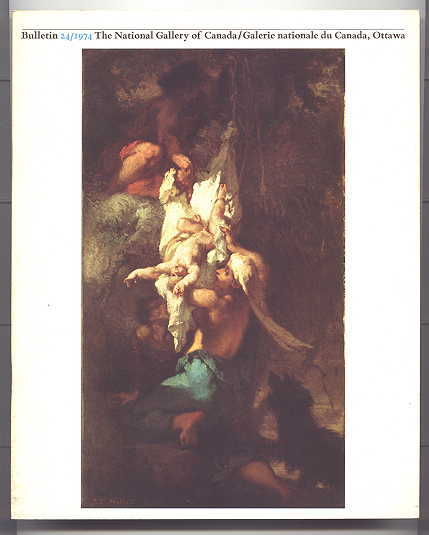 "Image for NATIONAL GALLERY OF CANADA, OTTAWA, BULLETIN 24/1974.  MILLET'S ""SAINT JEROME TEMPTED"" AND ""OEDIPUS TAKEN DOWN FROM TREE"": DISCOVERY OF LOST PAINTING / CLODIAN STATUETTE IN NATIONAL GALLERY / MASSIMILIANO SOLDANI'S ""VENUS PLUCKING THE WINGS OF CUPID"