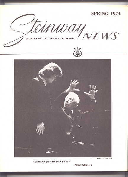 Image for STEINWAY NEWS.  SPRING 1974.