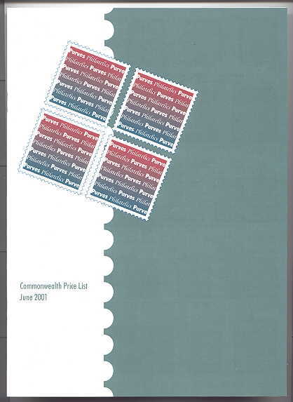 Image for COMMONWEALTH PRICE LIST JUNE 2001.