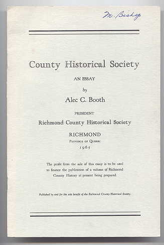 Image for COUNTY HISTORICAL SOCIETY:  AN ESSAY.
