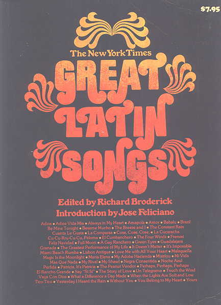 Image for THE NEW YORK TIMES GREAT LATIN SONGS.