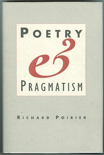 Image for POETRY AND PRAGMATISM.