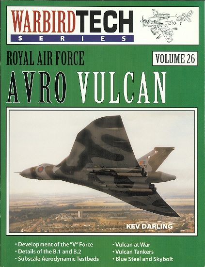 Image for AVRO VULCAN.  WARBIRDTECH SERIES VOLUME 26.  (ROYAL AIR FORCE)