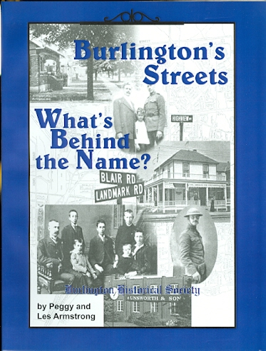 Image for BURLINGTON'S STREETS: WHAT'S BEHIND THE NAME?