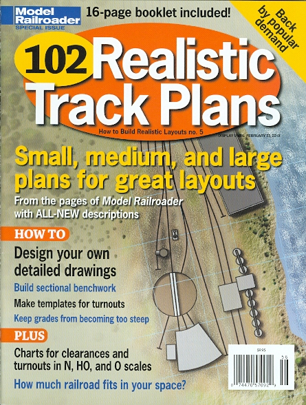 Image for 102 REALISTIC TRACK PLANS.  HOW TO BUILD REALISTIC LAYOUTS NO. 5.  (MODEL RAILROADER SPECIAL ISSUE.)