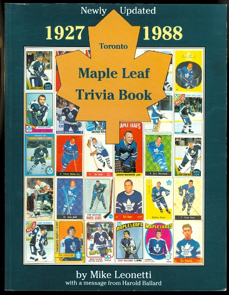 Image for TORONTO MAPLE LEAF TRIVIA BOOK 1927-1988.