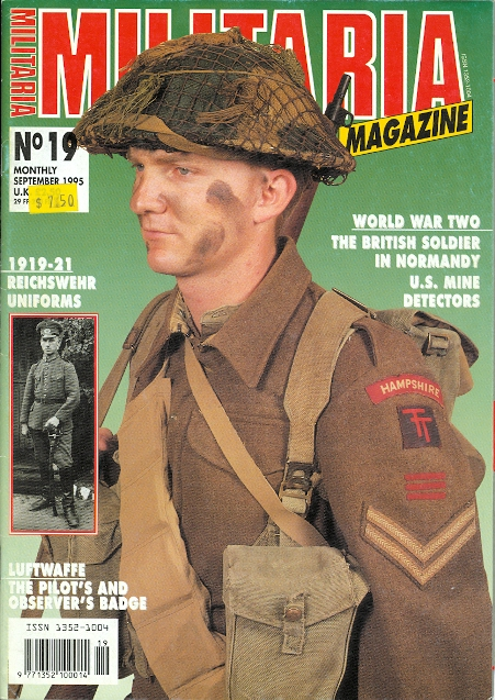Image for MILITARIA MAGAZINE.  NO. 19.  SEPTEMBER 1995.  (ENGLISH EDITION.)