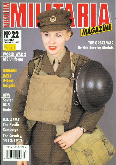 Image for MILITARIA MAGAZINE.  NO. 22.  DECEMBER 1995.  (ENGLISH EDITION.)