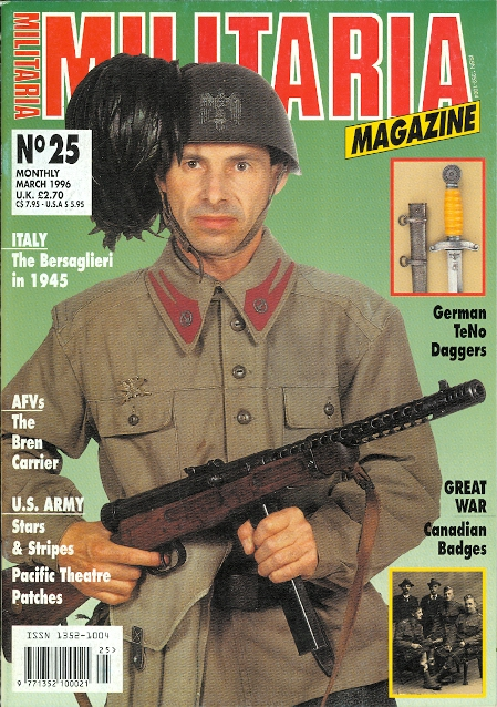 Image for MILITARIA MAGAZINE.  NO. 25.  MARCH 1996.  (ENGLISH EDITION.)