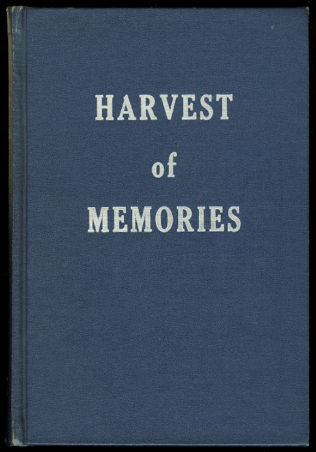 Image for HARVEST OF MEMORIES.