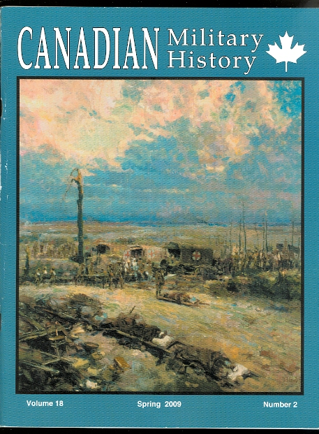 Image for CANADIAN MILITARY HISTORY.  SPRING  2009.  VOLUME 18, NUMBER 2.