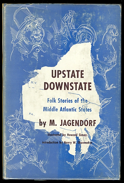 Image for UPSTATE DOWNSTATE:  FOLK STORIES OF THE MIDDLE ATLANTIC STATES.