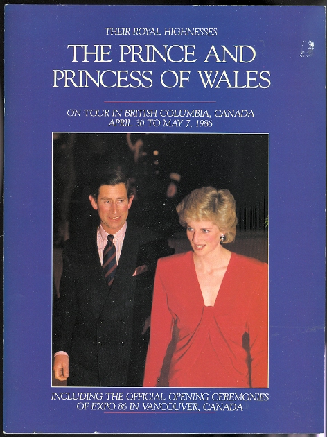 Image for THEIR ROYAL HIGHNESSES THE PRINCE AND PRINCESS OF WALES ON TOUR IN THE CANADIAN CITIES OF VICTORIA, NANAIMO, VANCOUVER, KELOWNA, KAMLOOPS AND PRINCE GEORGE IN THE PROVINCE OF BRITISH COLUMBIA.  APRIL 30 TO MAY 7, 1986.