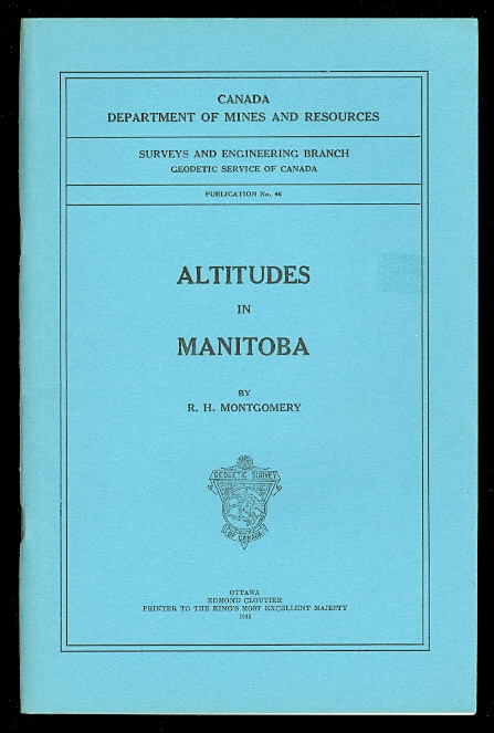 Image for ALTITUDES IN MANITOBA.