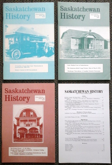 Image for SASKATCHEWAN HISTORY.  VOL. XXXVII NO.s 1, 2 & 3.  (WINTER, SPRING, AUTUMN 1984).  PLUS INDEX.
