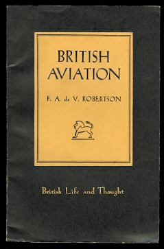 Image for BRITISH AVIATION.  BRITISH LIFE AND THOUGH SERIES NO. 8.