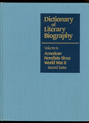 Image for AMERICAN NOVELISTS SINCE WORLD WAR II.  SECOND SERIES.  DICTIONARY OF LITERARY BIOGRAPHY, VOLUME SIX.