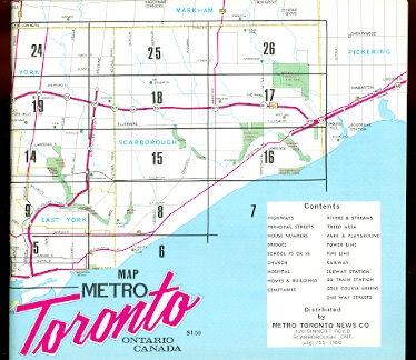 Image for MAP METRO TORONTO, ONTARIO, CANADA