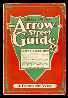 Image for OFFICIAL ARROW STREET GUIDE OF TORONTO AND SUBURBS.  1940, 36th EDITION (COMPLETELY REVISED).