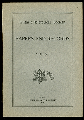 Image for ONTARIO HISTORICAL SOCIETY.  PAPERS AND RECORDS, VOL. X..