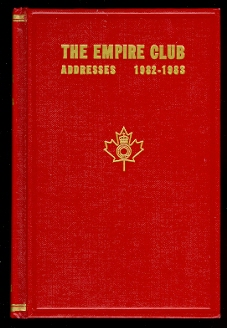Image for THE EMPIRE CLUB OF CANADA, ADDRESSES 1982-1983.  EIGHTIETH YEAR.
