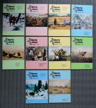 Image for ALBERTA HISTORY.  VOLUME 25, NUMBERS 2-4 (SPRING/SUMMER/AUTUMN 1977), VOLUME 26, NUMBERS 1-4 (WINTER/SPRING/SUMMER/AUTUMN 1978), VOLUME 27, NUMBERS 1 & 2 (WINTER/SPRING 1979), VOLUME 28, NUMBER 1 (WINTER 1980).  10 NUMBERS IN TOTAL.