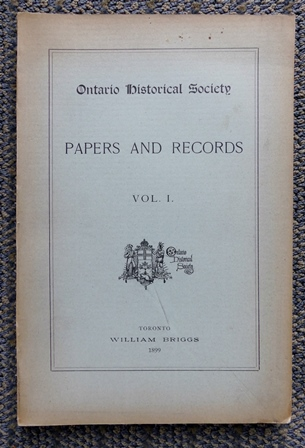Image for ONTARIO HISTORICAL SOCIETY.  PAPERS AND RECORDS.  VOL. I.