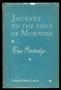 Image for JOURNEY TO THE EDGE OF MORNING:  THOUGHTS UPON BOOKS:  LOVE:  LIFE.