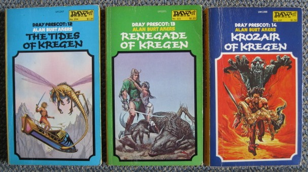 Image for DRAY PRESCOT:  THE KROZAIR CYCLE.  3 VOLUME SET.  THE TIDES OF KREGEN (DRAY PRESCOT: 12) / RENEGADES OF KREGEN (DRAY PRESCOT: 13) / KROZAIR OF KREGEN (DRAY PRESCOT: 14).