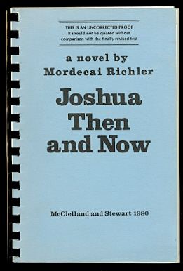 Image for JOSHUA THEN AND NOW.