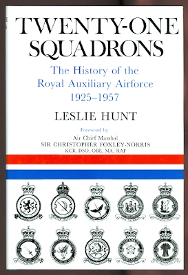 Image for TWENTY-ONE SQUADRONS.  THE HISTORY OF THE ROYAL AUXILIARY AIR FORCE:  1925-1957.
