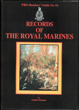 Image for RECORDS OF THE ROYAL MARINES.  PRO READERS' GUIDE No 10.  (PUBLIC RECORD OFFICE.)