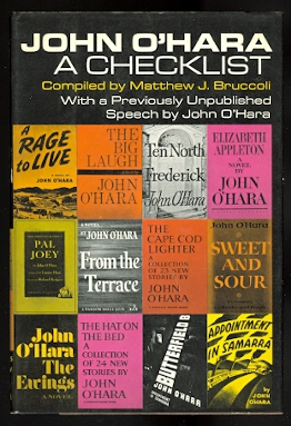 Image for JOHN O'HARA:  A CHECKLIST.  WITH A PREVIOUSLY UNPUBLISHED SPEECH BY JOHN O'HARA.