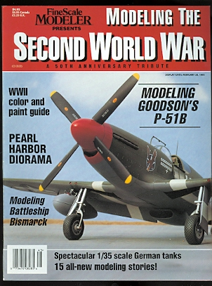 Image for MODELING THE SECOND WORLD WAR:  A 50th ANNIVERSARY TRIBUTE.  FINESCALE MODELER. 1995.