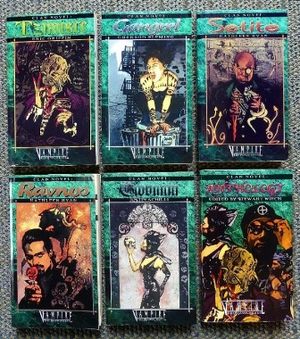 Image for VAMPIRE: THE MASQUERADE. 6 BOOKS FROM THE CLAN NOVEL SERIES: TZIMSCE / GANGREL / SETITE / RAVNOS / GIOVANNI / ANTHOLOGY.  (WORLD OF DARKNESS.)