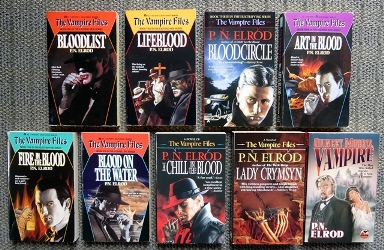 Image for THE VAMPIRE FILES (1,2,3,4,5,6,7 & 9).  #1. BLOOD LIST. #2. LIFEBLOOD. #3. BLOODCIRCLE. #4. ART IN THE BLOOD. #5. FIRE IN THE BLOOD. #6. BLOOD ON THE WATER. #7. CHILL IN THE BLOOD. #9. LADY CRYMSYN.  PLUS: QUINCEY MORRIS, VAMPIRE.  9 BOOKS IN TOTAL.