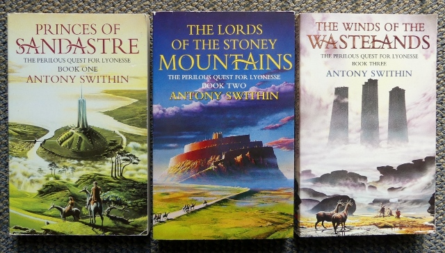 Image for THE PERILOUS QUEST FOR LYONESSE - FIRST THREE VOLUMES.  1. PRINCES OF SANDASTRE.  2. THE LORDS OF THE STONEY MOUNTAINS.  3. THE WINDS OF THE WASTELANDS.  3 VOLUMES.