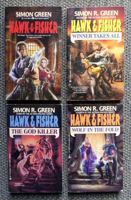 Image for HAWK & FISHER SERIES - FIRST 4 BOOKS.  1. HAWK & FISHER.  2. WINNER TAKES ALL.  3. THE GOD KILLER.  4. WOLF IN THE FOLD.