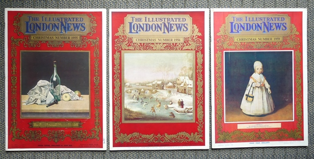 Image for THE ILLUSTRATED LONDON NEWS.  CHRISTMAS NUMBER 1955, No. 6081A, Vol. 227 + CHRISTMAS NUMBER 1956, No. 6126A, Vol. 229 + CHRISTMAS NUMBER 1959, No. 6274A, Vol. 235.  3 ITEMS.